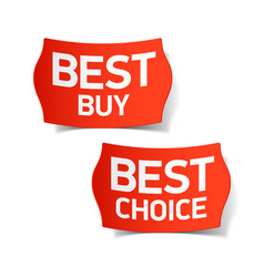 best buy and best choice labels vector image