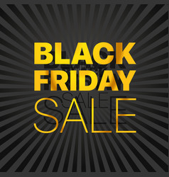 black friday sale logo black friday sale banner vector image vector image