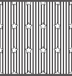 black stripe and star on white background vector image vector image