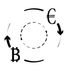 convert euro bitcoin symbol vector image vector image