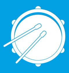 Drum icon white vector