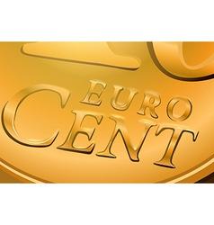 Euro cent coin vector