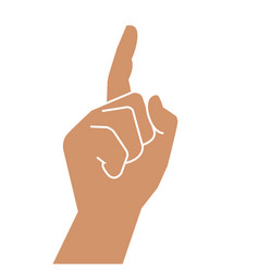 hand gesture with a raised index finger vector image