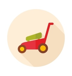 Lawn mowers flat icon garden vector