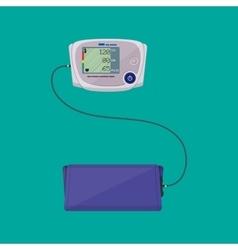 modern digital blood pressure measuring vector image