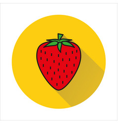 strawberry simple icon on white background vector image vector image