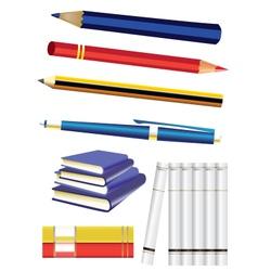 study pens vector image