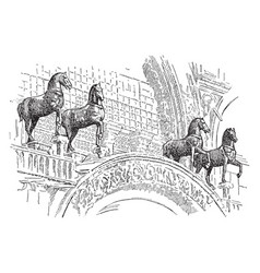 The horses of st marks were carried off to paris vector