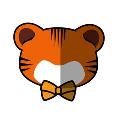 Tiger faceless cartoon vector