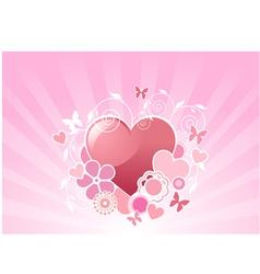 valentine floral background vector image vector image