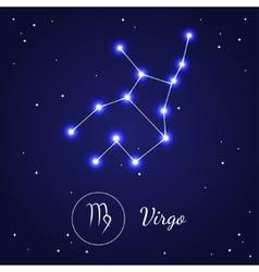 Virgo Zodiac Sign Stars on the Cosmic Sky vector image vector image