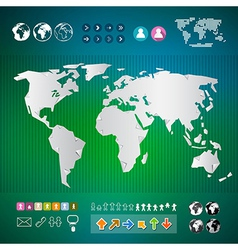 World Map Infographics Template vector image vector image