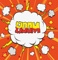 Cartoon explosion vector