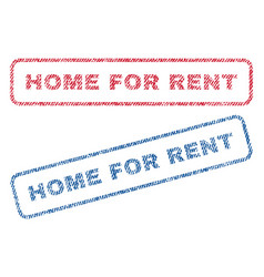 Home for rent textile stamps vector