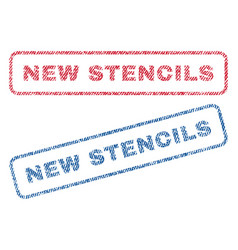 New stencils textile stamps vector