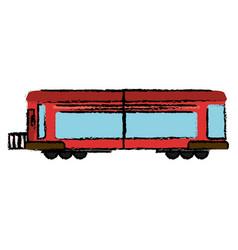 locomotive train transport business vector image