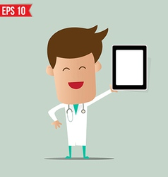 Doctor showing a report - - eps10 vector