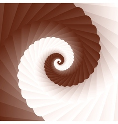 Chocolate and milk twirl vector