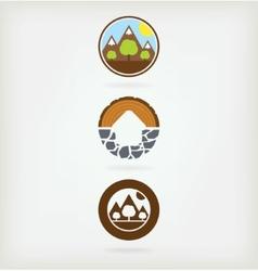 Three natural logo vector image
