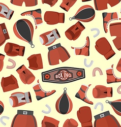 Boxing objects seamless pattern background gloves vector