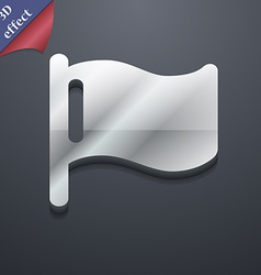 Flag icon symbol 3d style trendy modern design vector