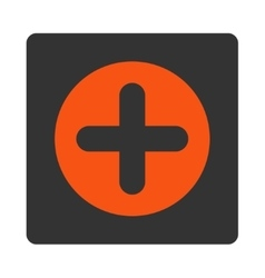 Create flat orange and gray colors rounded button vector