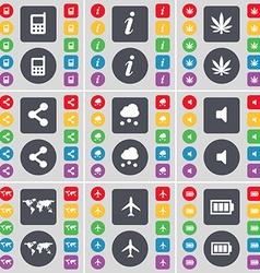 Mobile phone information marijuana share cloud vector