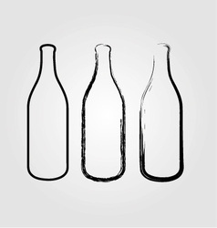 Bottles sketched vector