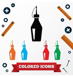 Oilcan industrial icons colored symbols on white vector