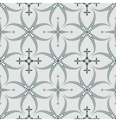 Seamless laurel wreath pattern curled swirl vector