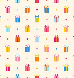 Seamless pattern with multicolor gifts vector