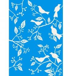 floral background birds vector image