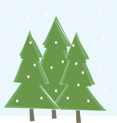 Snowing trees vector