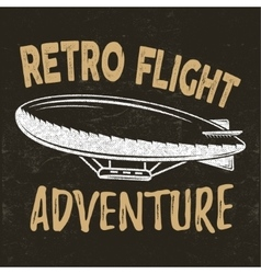 Vintage fly print design retro flight vector