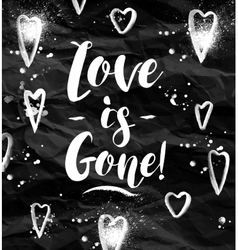 Angry Love is gone greeting card vector image