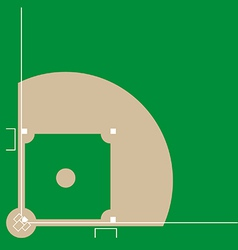 Baseball diamond vector image vector image