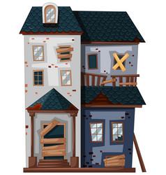 brickhouse in poor condition vector image vector image