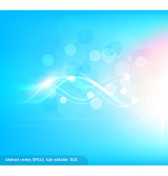 Bright blue background with curved white lines vector