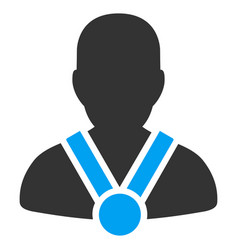 Champion flat icon vector