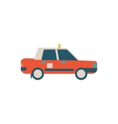 Chinese Police Car Simplified Icon vector image vector image