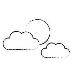 cloud sun weather climate day sky vector image vector image