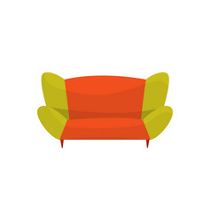 colorful modern sofa living room or office vector image vector image