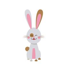 cute easter bunny spring celebration design vector image