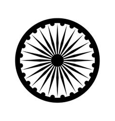 Dharmacakra Dharma Wheel vector image