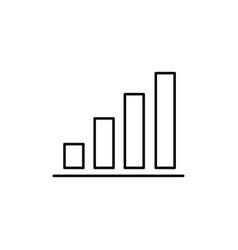 diagram chart icon vector image