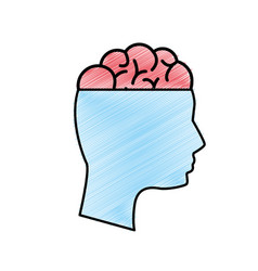 edge mental health person with brain vector image vector image