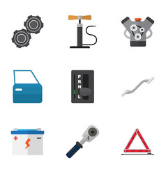 Flat icon workshop set of ratchet belt vector