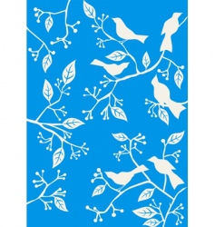 floral background birds vector image