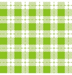 Green and white tablecloth seamless pattern vector