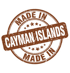 Made in cayman islands vector